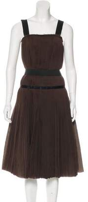 Lanvin Pleated Silk Dress