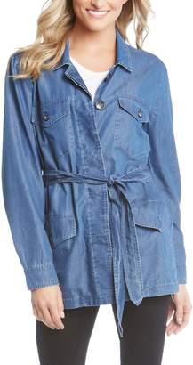 Karen Kane Belted Chambray Cargo Jacket