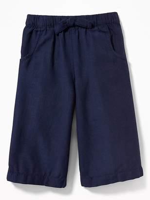 Old Navy Linen-Blend Wide-Leg Culottes for Toddler Girls