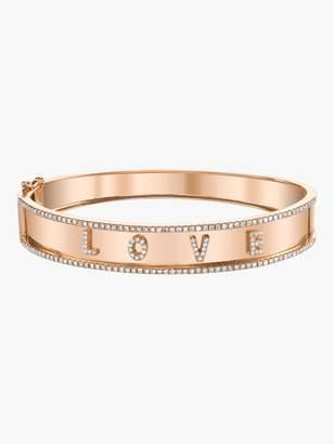 Shay Jewelry Love Nameplate Bangle With Diamond Trim