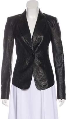 Rachel Zoe Leather Long Sleeve Jacket