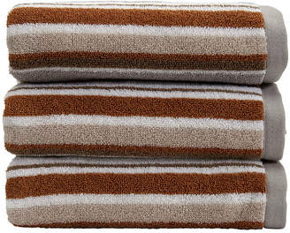 Christy Portobello Stripe Towel - Pebble - Bath Towel