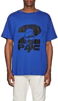 Tupac by 424 Men's Fist-Print Cotton Short-Sleeve T-Shirt - Blue