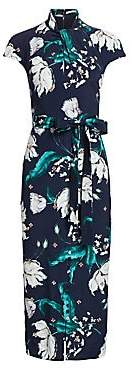 Erdem Women's Finn Beaded Floral Midi Dress