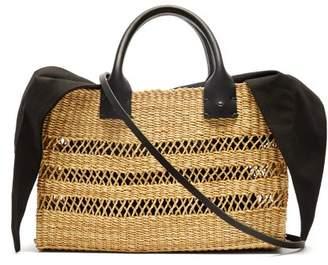 Muun Charlotte Woven Straw Basket Bag - Womens - Black