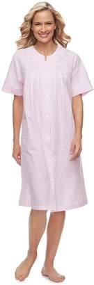 Miss Elaine Women's Essentials Short Seersucker Robe