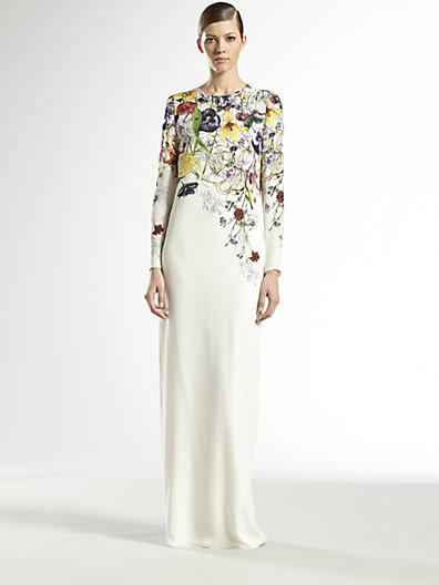 Gucci Silk Flora Infinity Gown