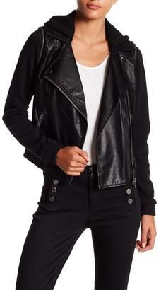 Jolt Faux Leather Sweater Jacket (Junior) $68 thestylecure.com