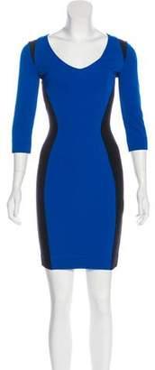 Just Cavalli Colorblock Mini Dress