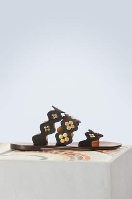 Chloé Lauren leather sandals