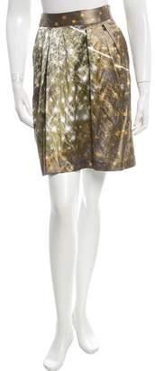 Gianfranco Ferre Pleated A-Line Skirt