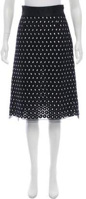Marc Jacobs Embroidered Knee-Length Skirt