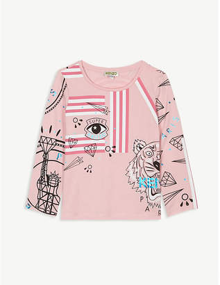 Kenzo Graphic print long-sleeve T-shirt 4-14 years