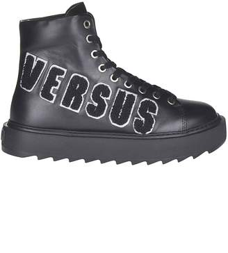 Versace Logo Patched Laced-up Boots