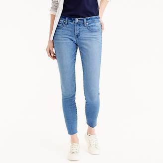 "J.Crew Tall 8"" toothpick skinny jeans with side slits"