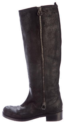 Jimmy Choo Jimmy Choo Tarnished Nubuck Knee-High Boots