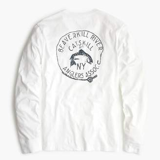 J.Crew Beaverkill river graphic long-sleeve T-shirt