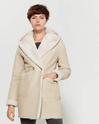 Intuition Paris Voyelle Real Fur & Leather Reversible Coat