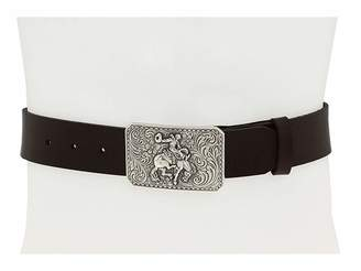M&F Western Vintage Leather Belt W/Antiqued Cowboy Buckle