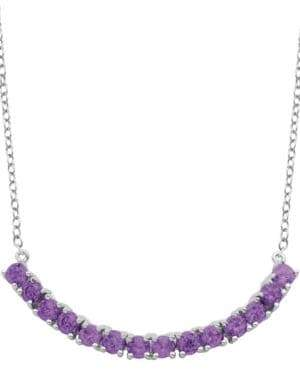 Lord & Taylor African Amethyst Pendant Necklace