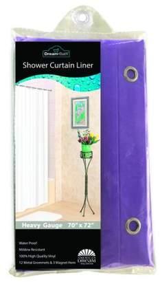 American Dream Home Goods Dream Bath PVC Anti-Bacterial Mildew Resistant Shower Liner, 72x72 inch, Peach