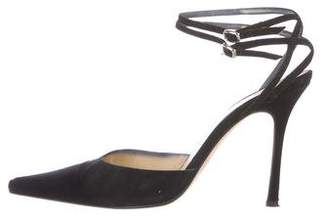 Brian Atwood Suede Pointed-Toe Pumps