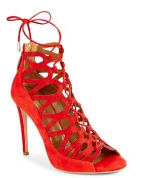 Aquazzura Unforgettable Leather Stiletto Pumps