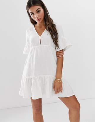 e3e96563b25ca Billabong x Sincerely Jules Lovers Wish cotton beach dress in cream