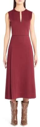 Fendi Pleated A-Line Midi Dress