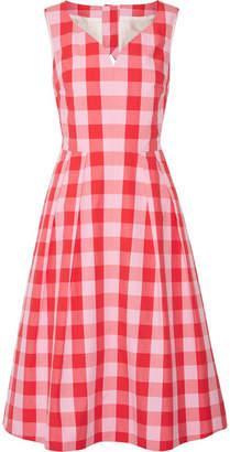 Draper James Cutout Gingham Cotton-poplin Dress - Pink