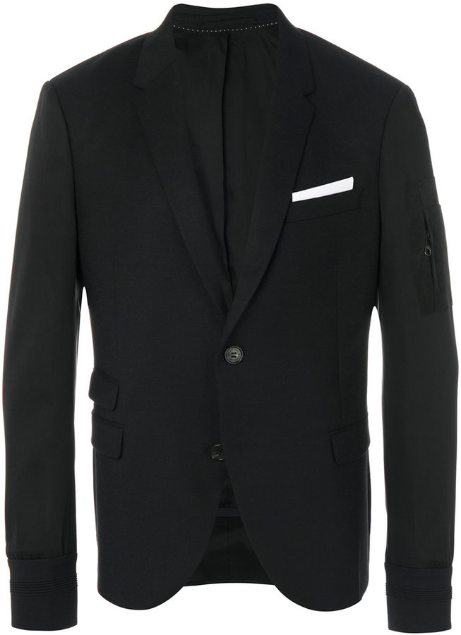 Neil Barrett zip detail blazer