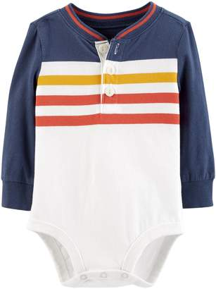Osh Kosh Oshkosh Bgosh Baby Boy Striped Henley Bodysuit