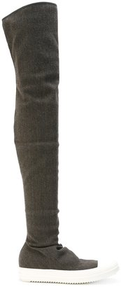 Rick Owens DRKSHDW thigh high boots $763 thestylecure.com
