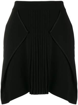 Neil Barrett pleat detail mini skirt