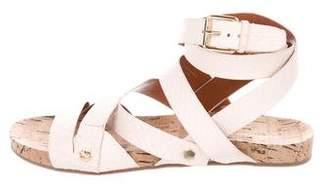 Rebecca Minkoff Embossed Multi-Strap Sandals