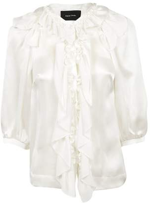 Simone Rocha Ruffle Button Blouse