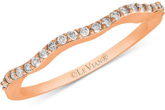 LeVian Le Vian Diamond Wave Ring (1/6 ct. t.w.) in 14k Rose Gold