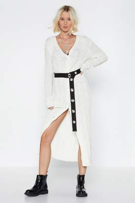 Nasty Gal To Be Continued Longline Cardigan