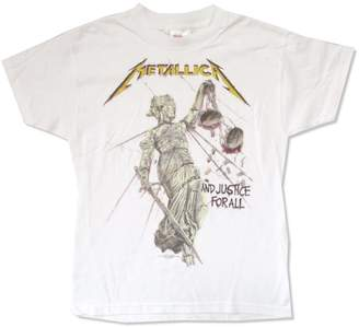 Justice Real Swag Inc Metallica And for All Yellow Logo Youth Kids T Shirt (XL)
