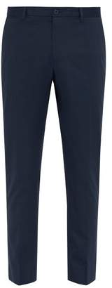 Dolce & Gabbana Side Stripe Tailored Cotton Blend Trousers - Mens - Blue