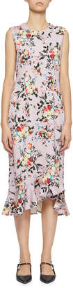 Erdem Esther Wrapped-Ruffle Midi Dress