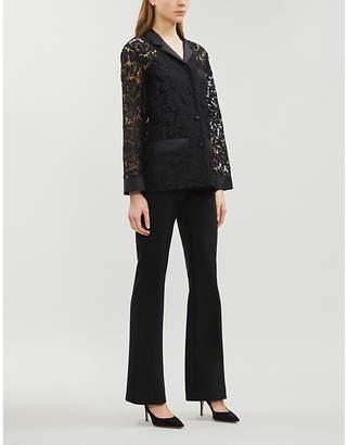 Valentino Floral lace cotton-blend shirt