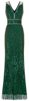 Jenny Packham Bei Sequin Embellished Gown