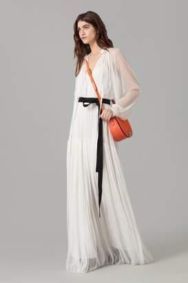 Amanda Wakeley White Silk Tulle Maxi Dress