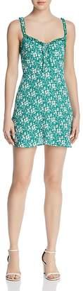 For Love & Lemons Zamira Floral-Print Mini Dress