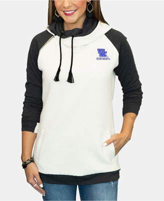 Couture Gameday Women Kentucky Wildcats Quilted Hooded Sweatshirt