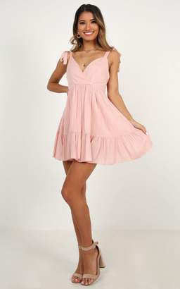 Showpo Amalfi Swing dress in blush - 6 (XS) Dresses