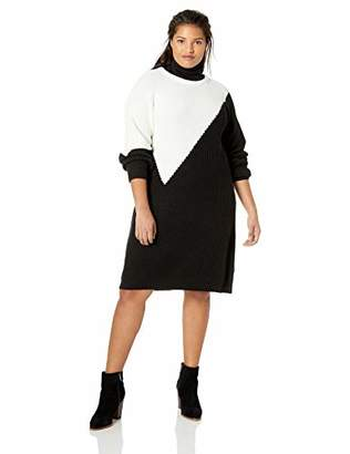 8abf1ec6be1 Vince Camuto Women s Plus Size Colorblock Long Sleeve Shift Sweater Dress