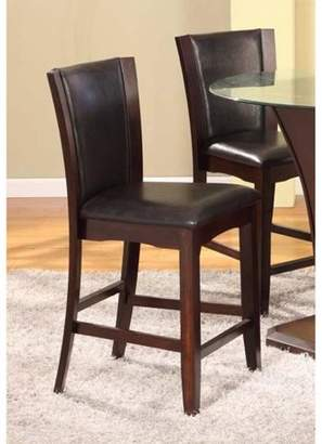 Roundhill Furniture Roundhill Kecco Espresso Solid Wood Counter Height Stools, Set of 2
