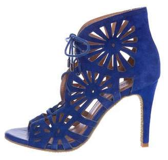 Joie Suede Laser-Cut Sandals